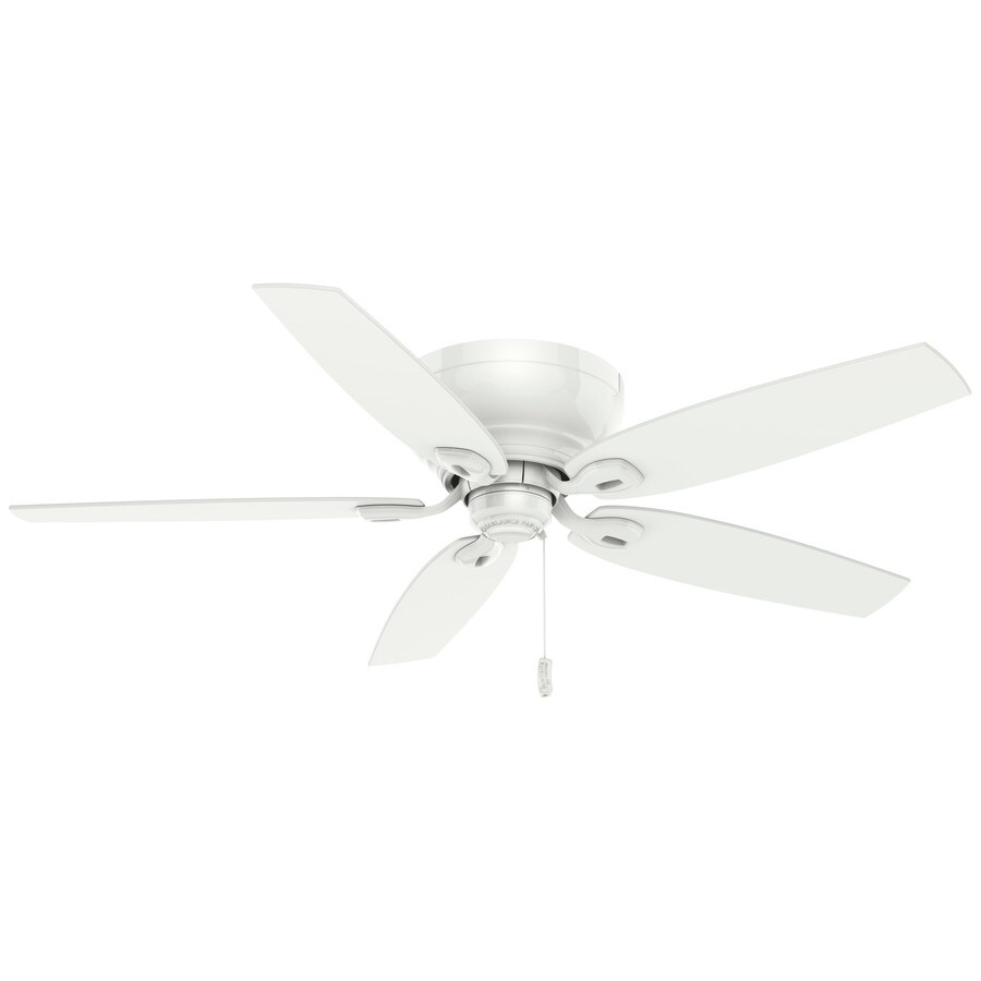 Casablanca Durant 54-in Snow White Flush Mount Indoor Residential Ceiling Fan