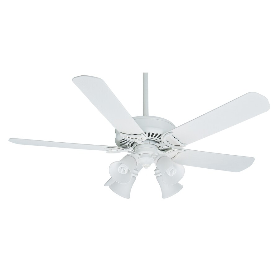 Casablanca Panama Gallery 54-in Architectural White Downrod or Close Mount Indoor/Outdoor Residential Ceiling Fan with Light Kit and Remote