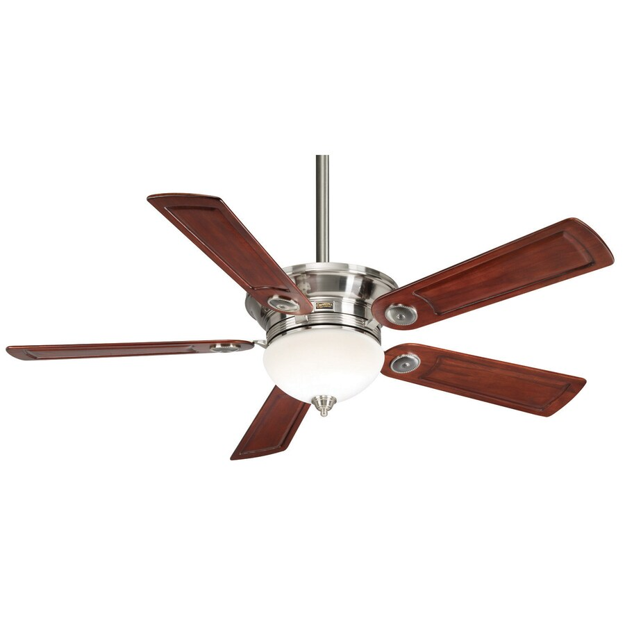 Casablanca Whitman 54-in Brushed Nickel Downrod or Close Mount Indoor Ceiling Fan with Light Kit and Remote