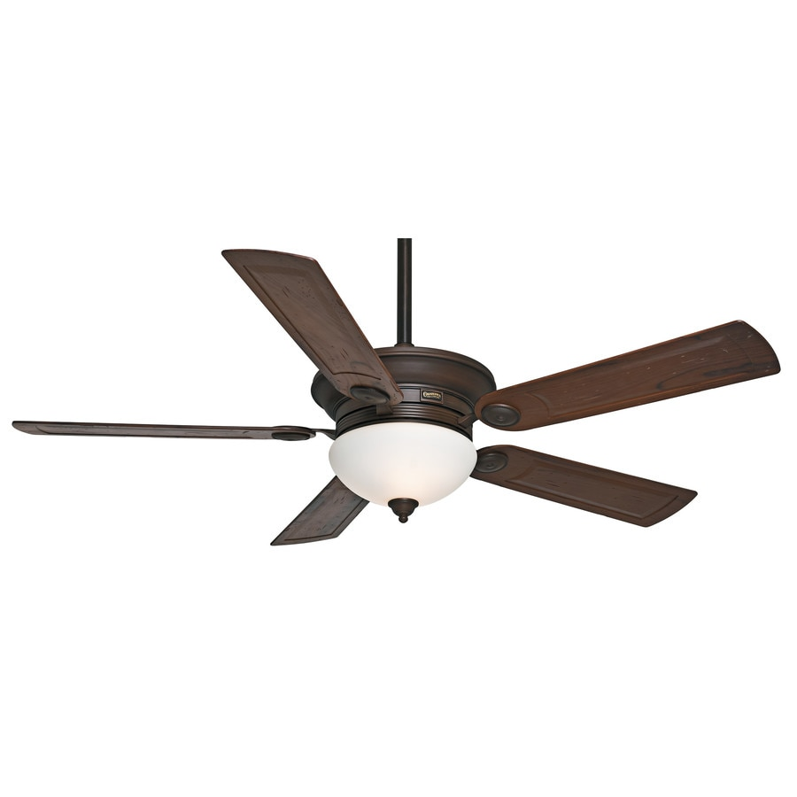 Casablanca Whitman 54-in Brushed Cocoa Downrod or Close Mount Indoor Ceiling Fan with Light Kit and Remote