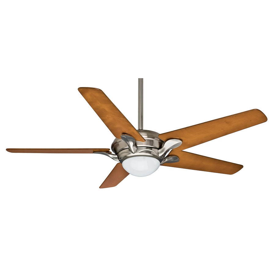 Casablanca Bel Air 56-in Brushed Nickel Downrod or Close Mount Indoor Ceiling Fan with Light Kit and Remote