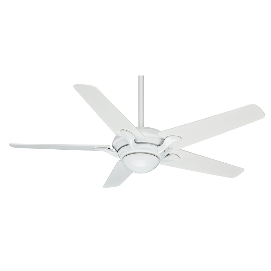 Casablanca Bel Air 56-in Snow White Downrod or Close Mount Indoor Ceiling Fan with Light Kit and Remote