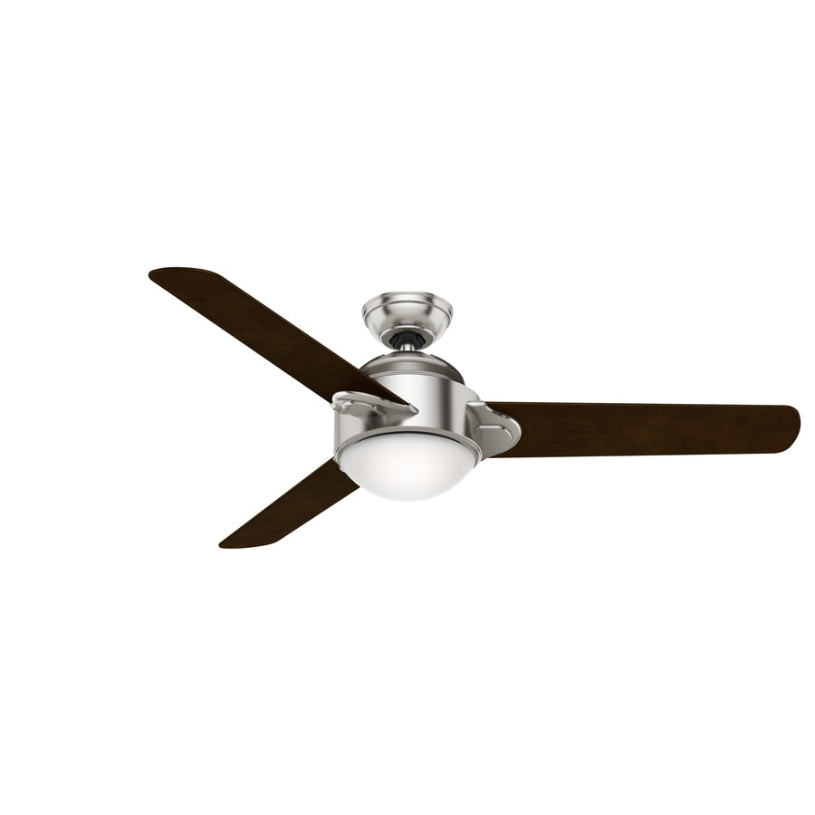 Casablanca Trident 54-in Brushed Nickel Downrod Mount Indoor Residential Ceiling Fan with Light Kit and Remote (3-Blade)