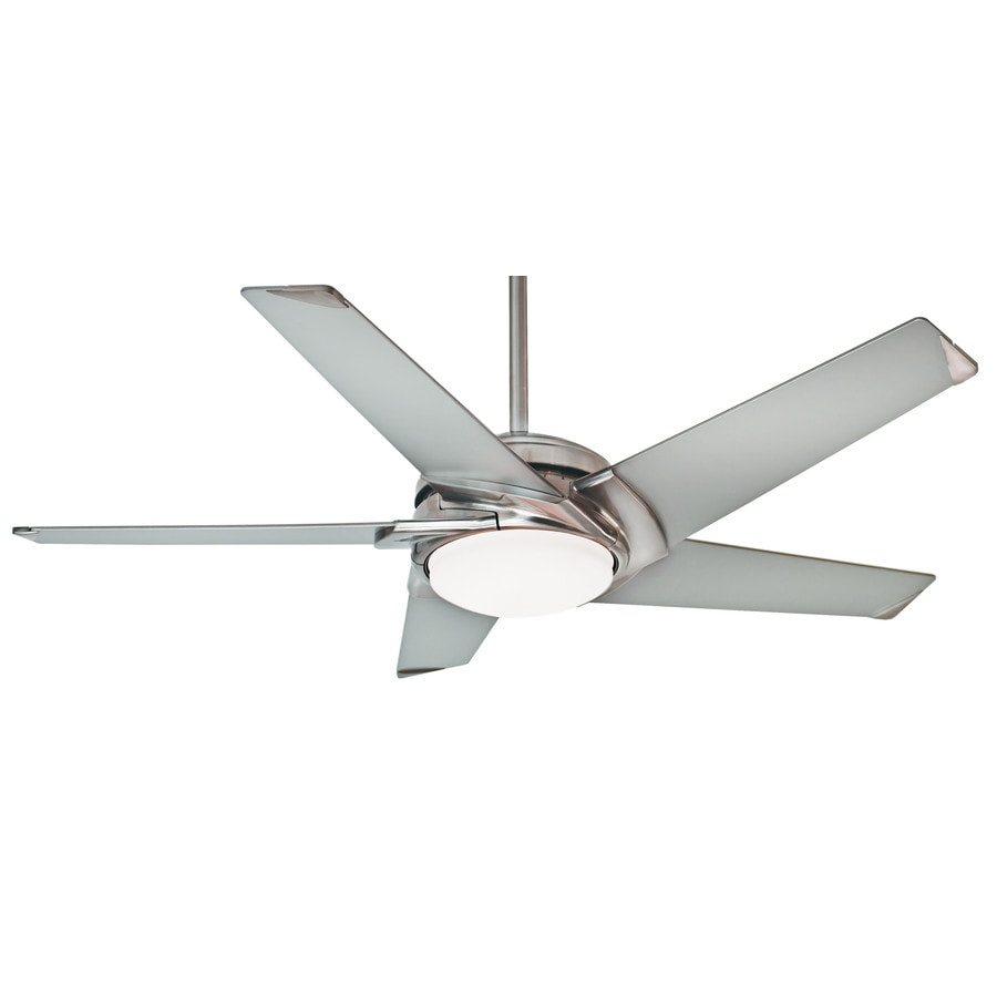 Casablanca Stealth Led 54-in Brushed Nickel Downrod or Close Mount Indoor Residential Ceiling Fan with LED Light Kit and Remote ENERGY STAR