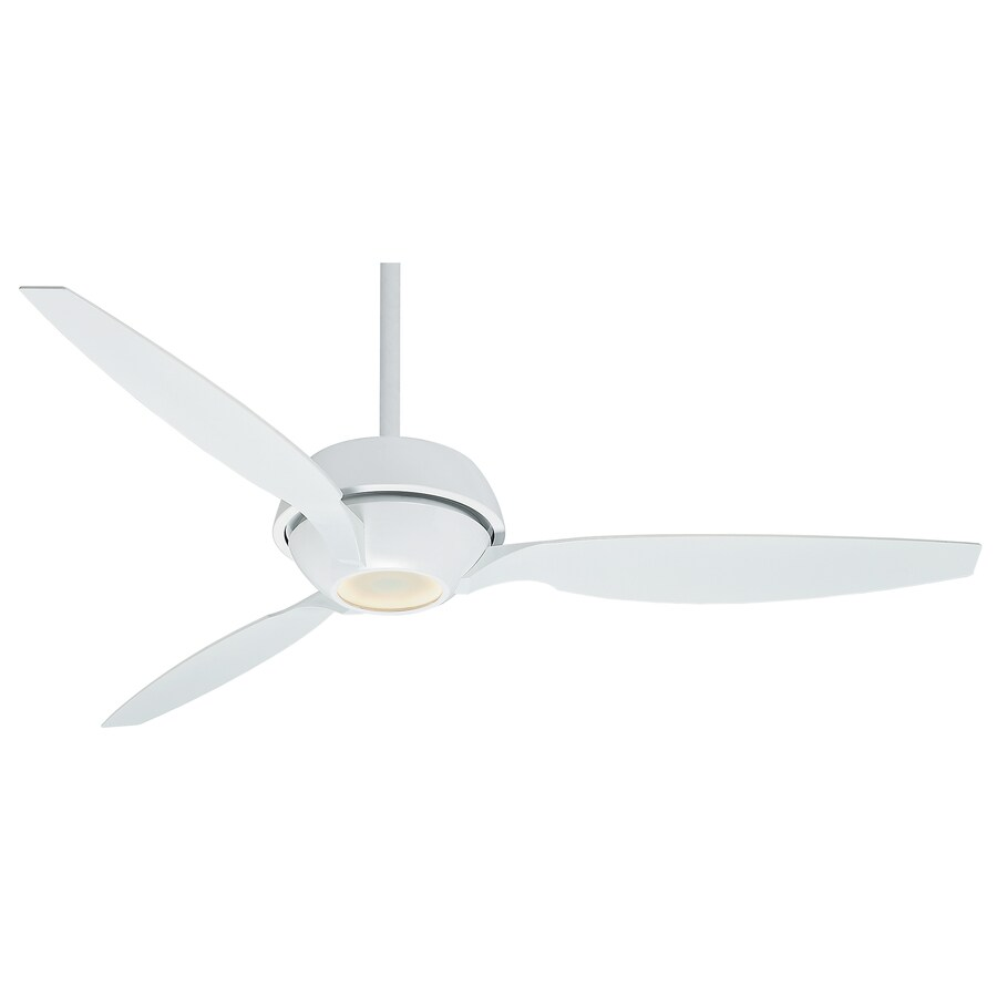 Casablanca Riello Led 60-in Snow White Downrod or Close Mount Indoor Residential Ceiling Fan with LED Light Kit and Remote (3-Blade) ENERGY STAR
