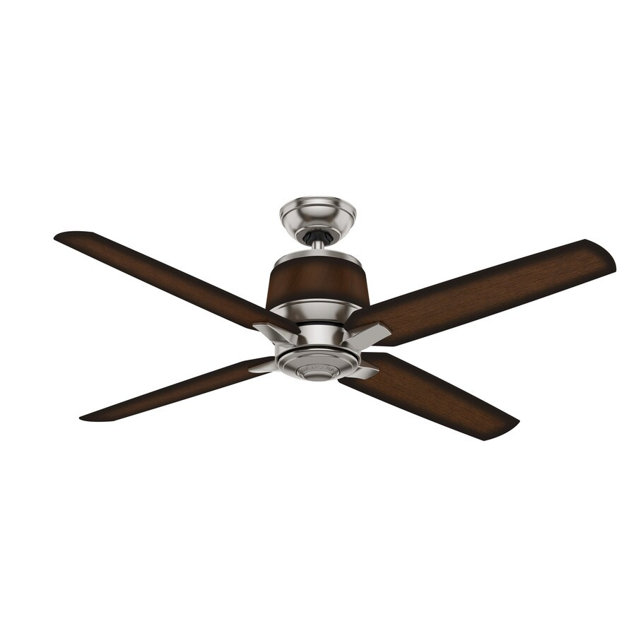 Casablanca Aris 54-in Brushed Nickel Downrod or Close Mount Indoor/Outdoor Residential Ceiling Fan with Remote (4-Blade) ENERGY STAR