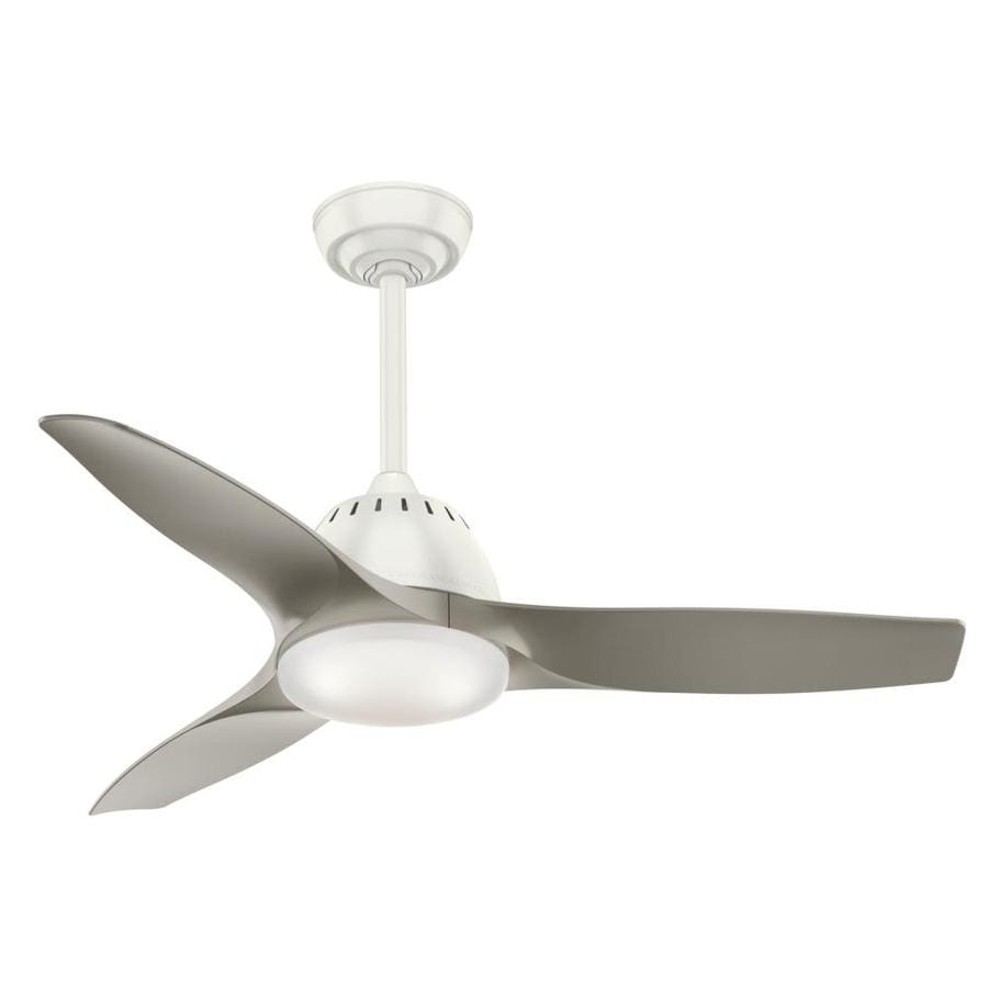Casablanca Wisp Led 44-in Fresh White Downrod or Close Mount Indoor Residential Ceiling Fan with LED Light Kit and Remote (3-Blade)