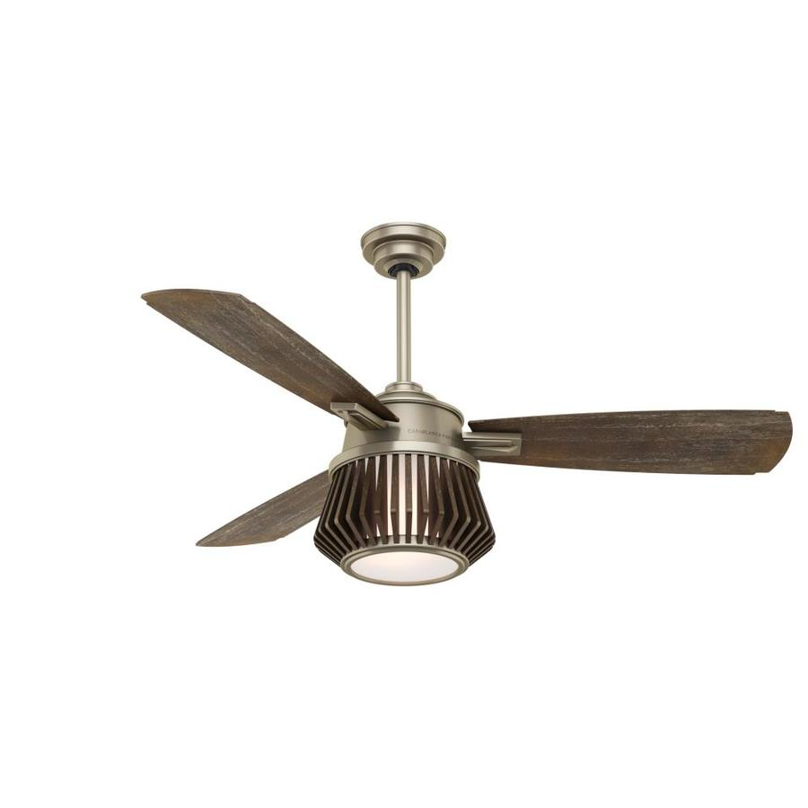 Casablanca Glen Arbor Led 56-in Metallic Birch Downrod or Close Mount Indoor Residential Ceiling Fan with Light Kit and Remote (3-Blade) ENERGY STAR