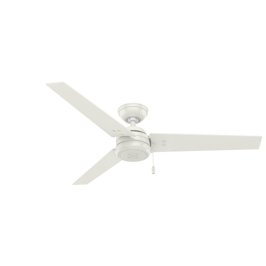 Hunter Cassius 52-in White Downrod or Close Mount Indoor/Outdoor Commercial/Residential Ceiling Fan (3-Blade) ENERGY STAR