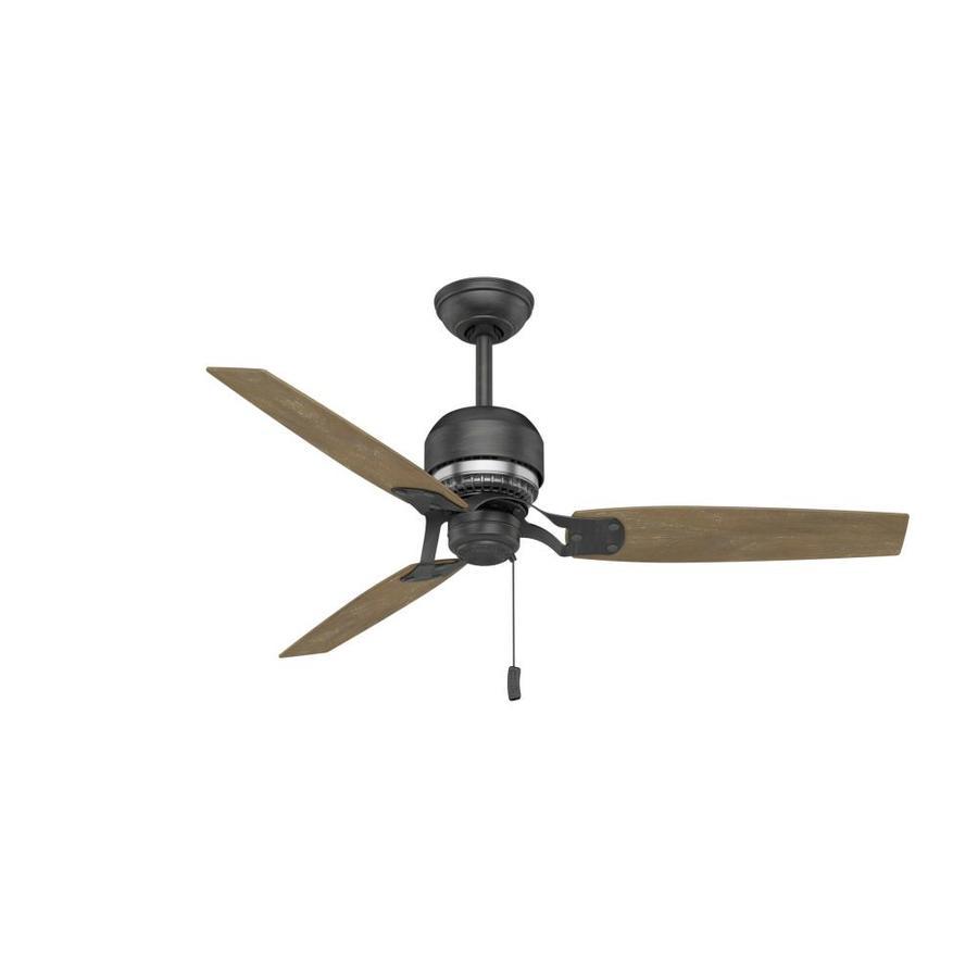 Casablanca Tribeca 52-in Aged Steel Downrod Mount Indoor Residential Ceiling Fan (3-Blade) ENERGY STAR