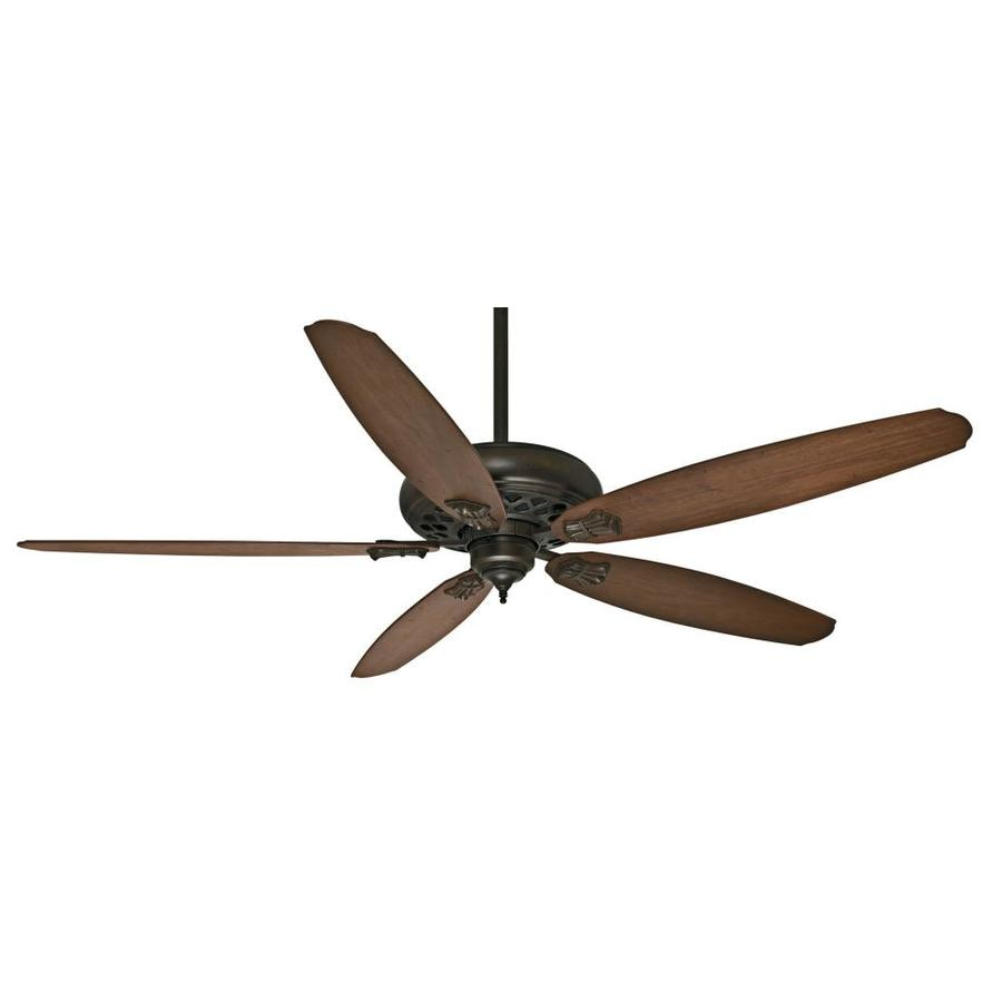 Casablanca Fellini Dc 66-in Provence Crackle Downrod or Close Mount Indoor Ceiling Fan with Remote ENERGY STAR