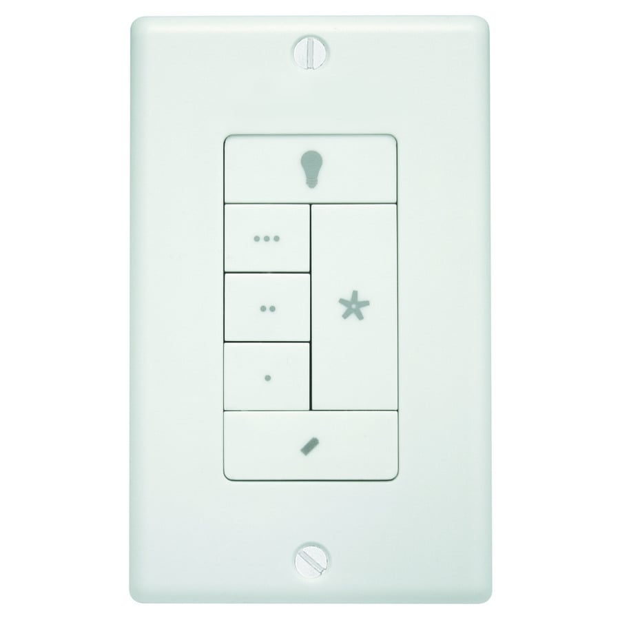 Hunter White Wall-Mount Universal Ceiling Fan Remote Control