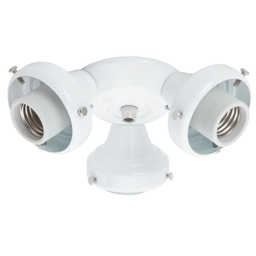 Shop Hunter 3 Light White Fluorescent Ceiling Fan Light