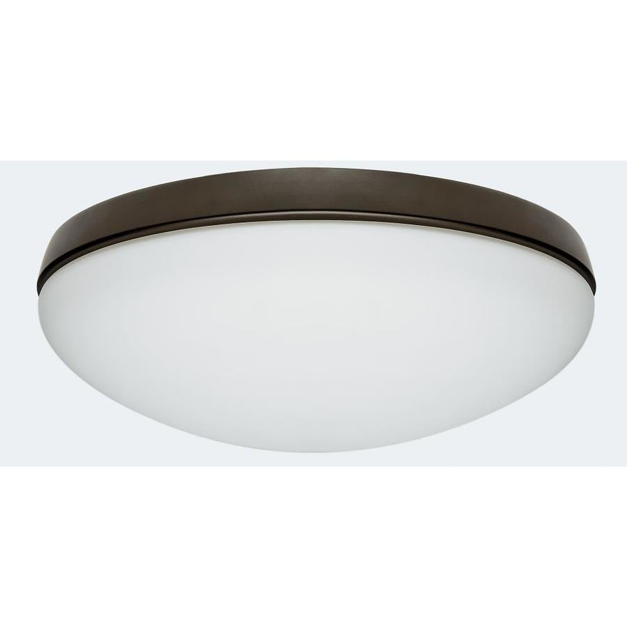 Hunter Low Profile 2-Light New Bronze Fluorescent Ceiling Fan Light Kit with Frosted Glass ENERGY STAR