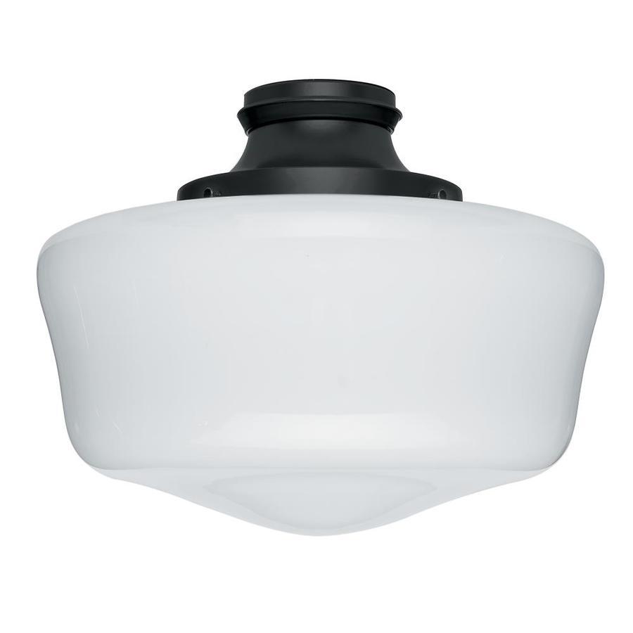 Hunter 1-Light Black Fluorescent Ceiling Fan Light Kit with Frosted Glass