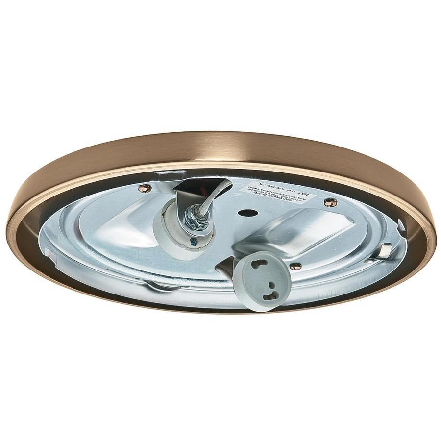 Casablanca Low Profile 2-Light Antique Brass Fluorescent Ceiling Fan Light Kit ENERGY STAR