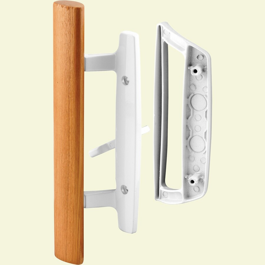 Shop Prime Line White Patio Door Handle Set With Wooden