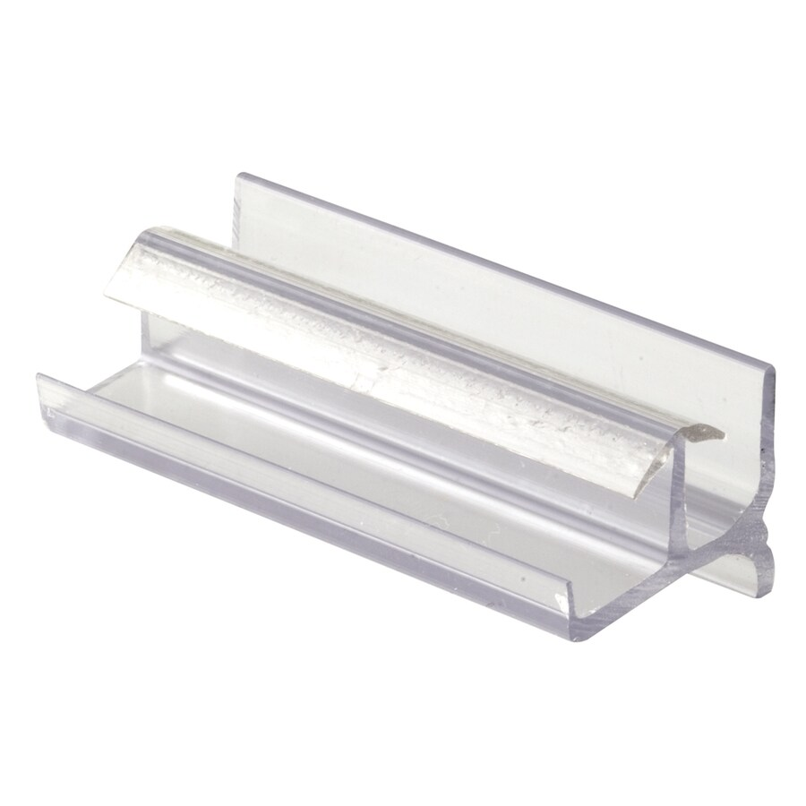 Prime-Line 3-in Clear Bottom Sliding Shower Door Guide