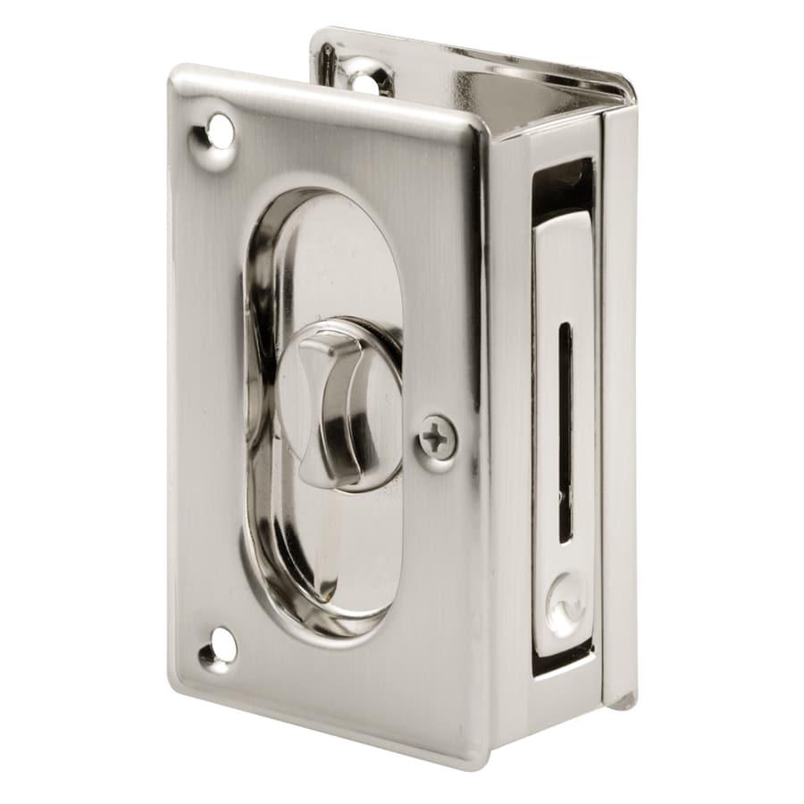 Prime-Line 2-1/2-in Nickel Privacy Pocket Door Pull
