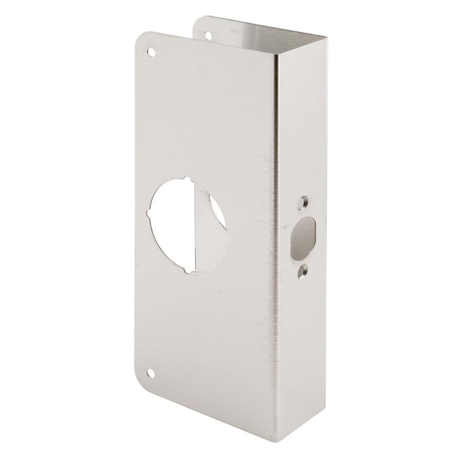 Gatehouse 5.5-in x 9-in Satin Nickel Entry Door Reinforcer