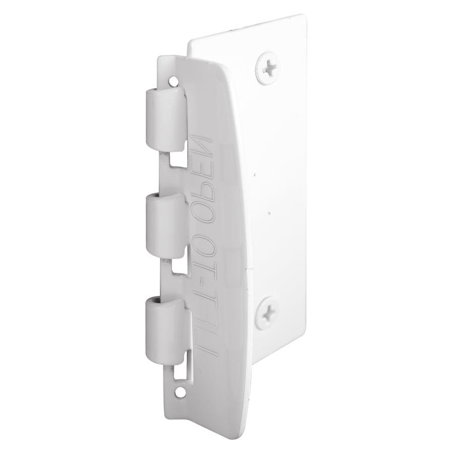 Gatehouse White Steel flip Action Door Lock