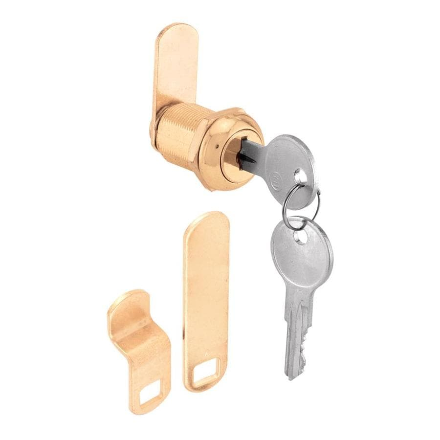 Gatehouse 7/8-in Brass Die-Cast Drawer and Cabinet Lock