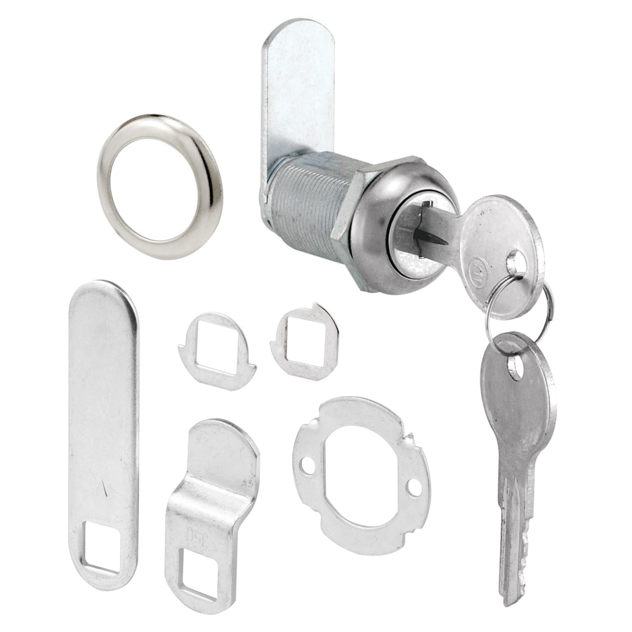 Shop gatehouse 1 1 8 in stainless steel die cast drawer and cabinet lock at lowes com