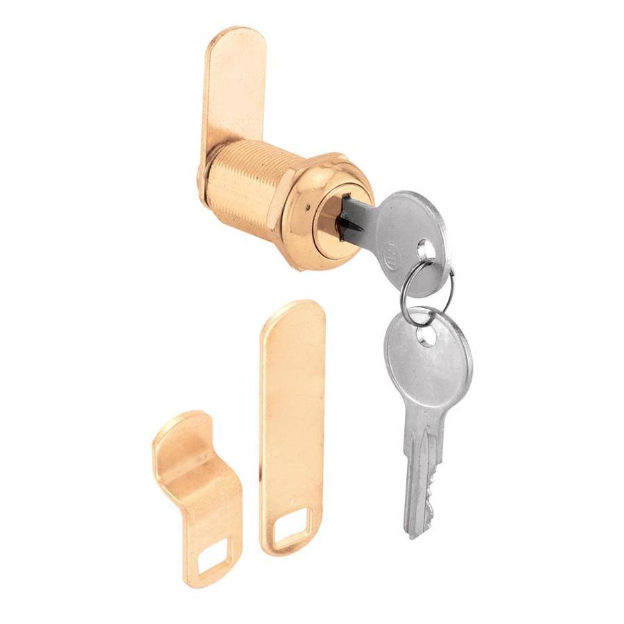 Gatehouse 13/16-in Brass Die-Cast Drawer and Cabinet Lock