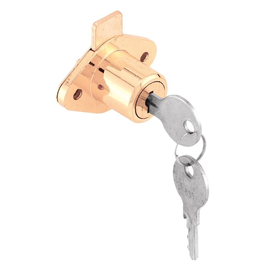 Gatehouse 7/8-in Brass Die-Cast Drawer and Cabinet Lock