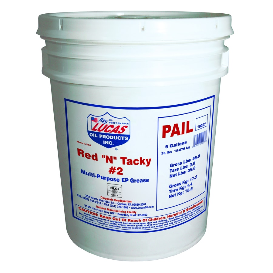 Lucas Oil Products 35-lb Red N Tacky Grease Pail