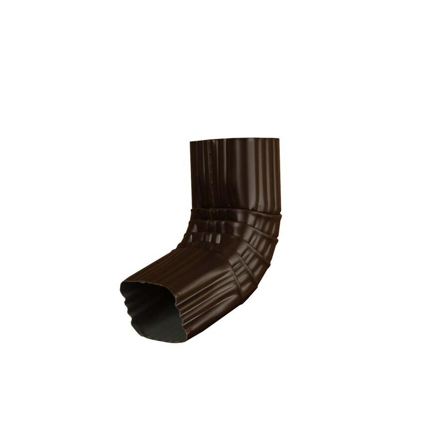Amerimax 8.5-in Musket Brown Aluminum Front Elbow
