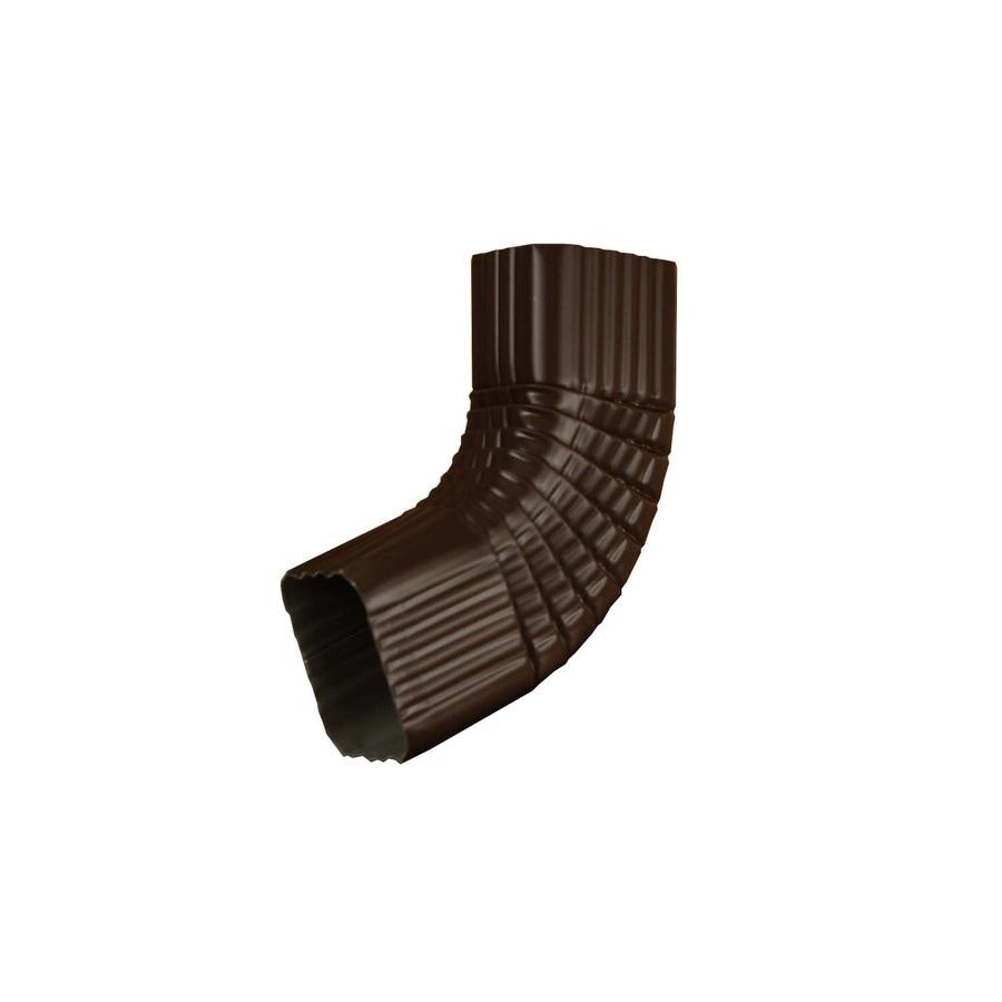 Amerimax 10-in Musket Brown Aluminum Side Elbow