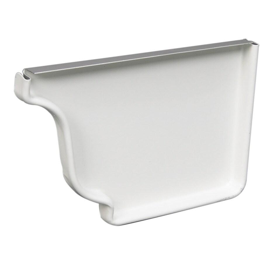 6 K Style Gutter Aluminum End Cap Left Side Royal Brown