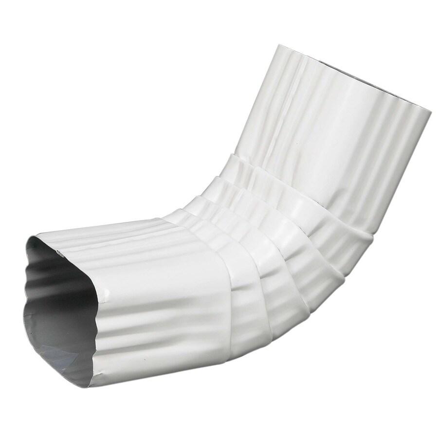 Amerimax 9-in White Aluminum Front Elbow
