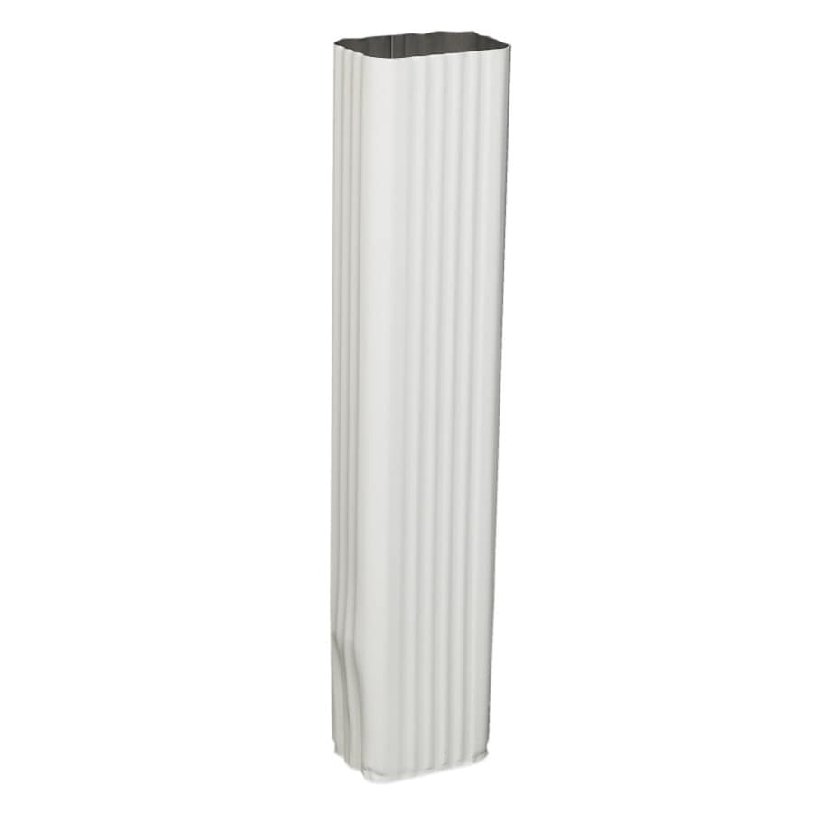 Amerimax 15-in White Aluminum Downspout Extension
