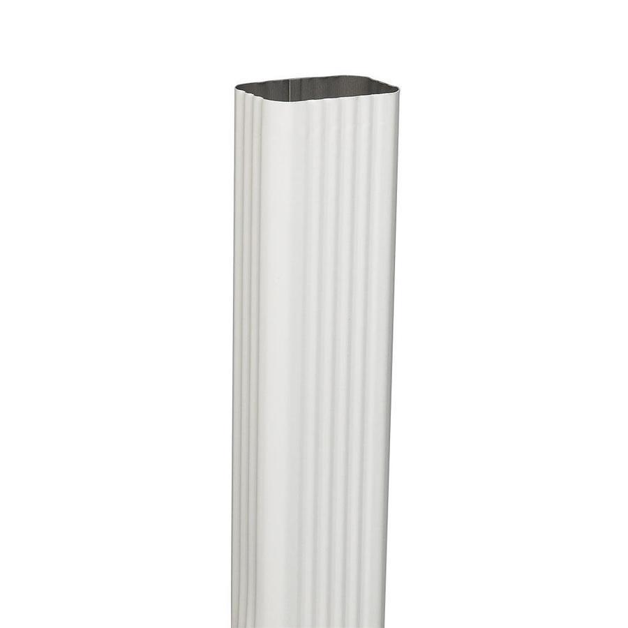 Amerimax 120-in White Galvanized Steel Downspout