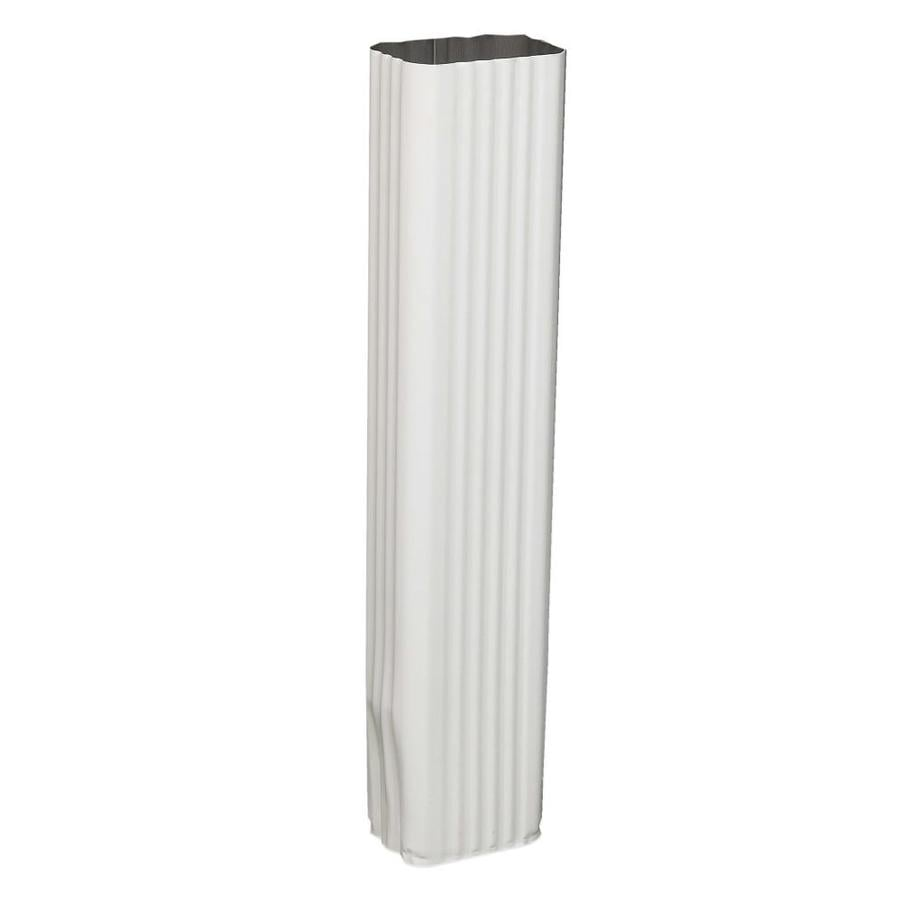 Amerimax 15-in White Galvanized Steel Downspout Extension