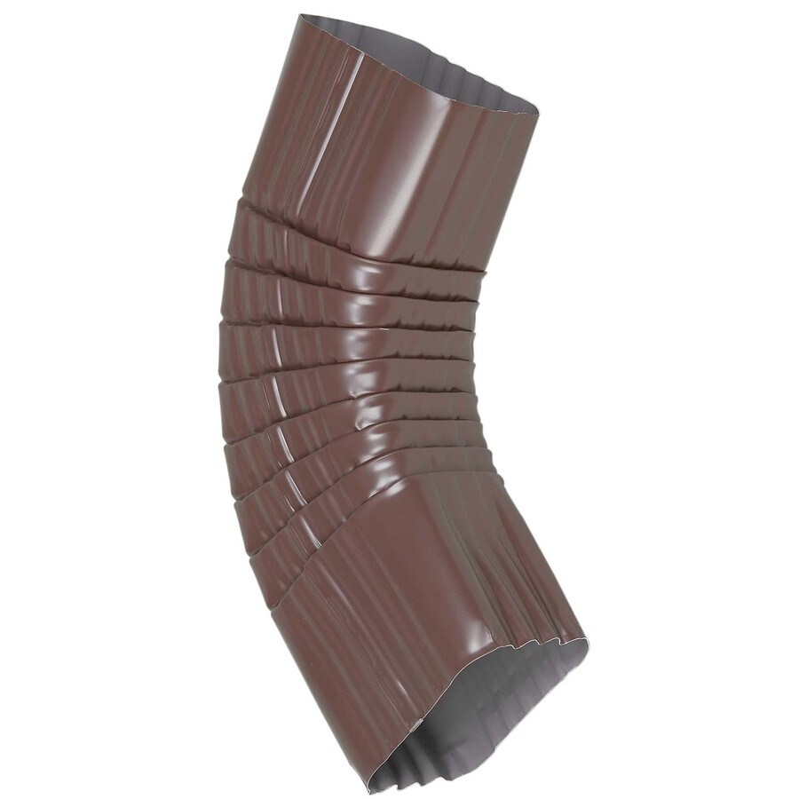 Amerimax 12-in Brown Aluminum Side Elbow