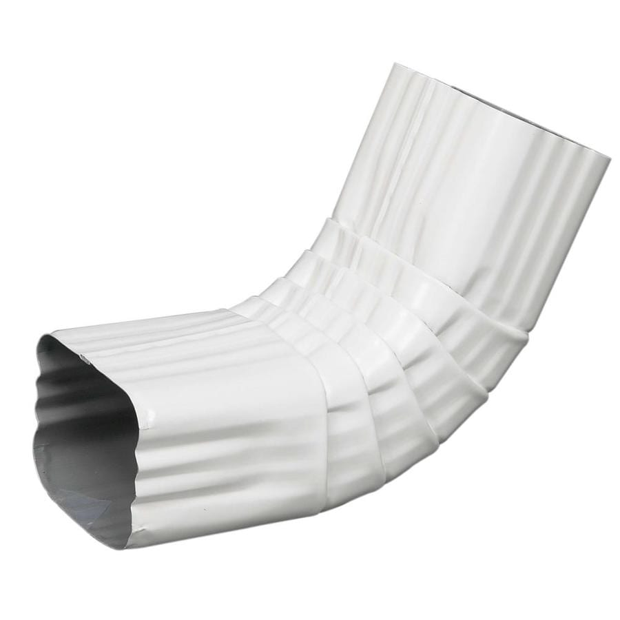 Amerimax 11.5-in White Aluminum Front Elbow