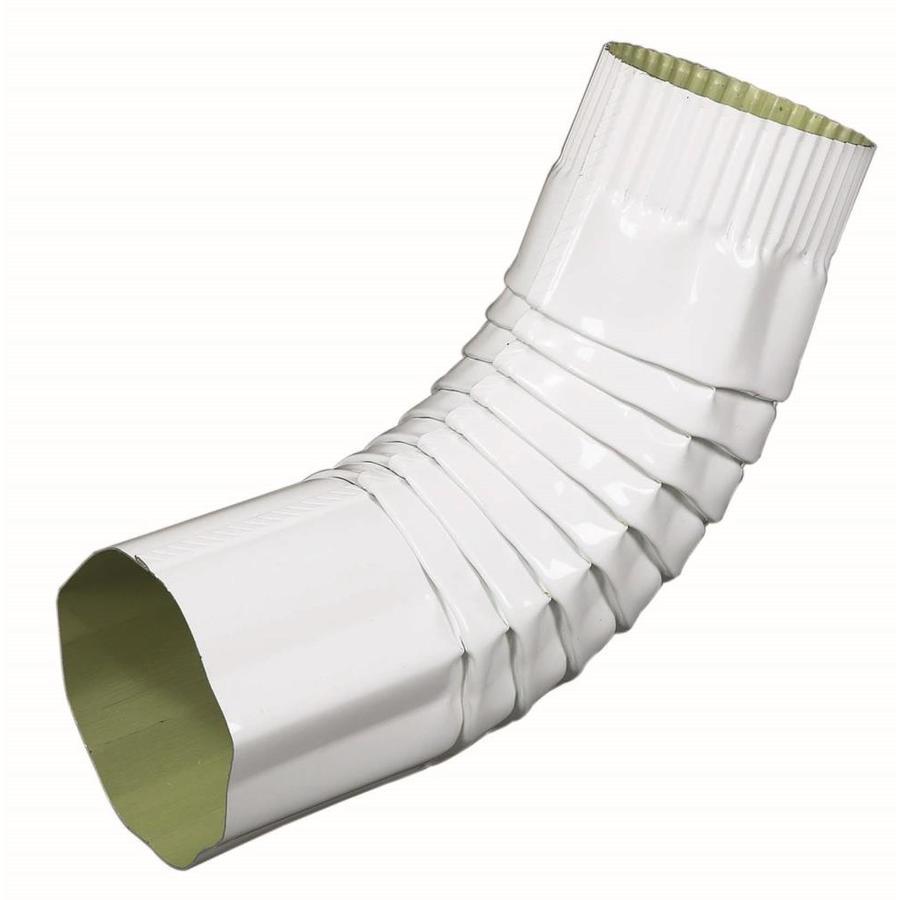 Amerimax 11.75-in Hi-Gloss Aluminum Front Elbow