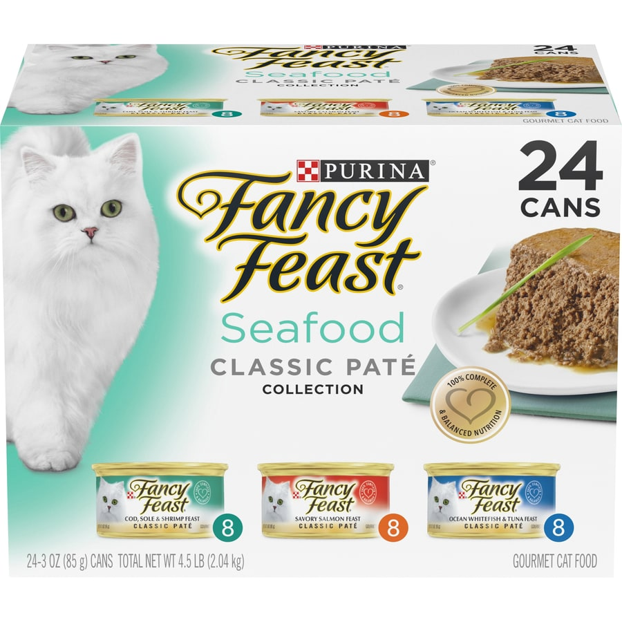 FANCY FEAST 24-Pack 3-oz Seafood Adult Cat Food Variety Pack