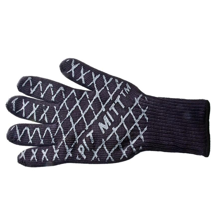 Charcoal Companion Black/Silver Aramid Fiber Flame Retardant Grill Glove