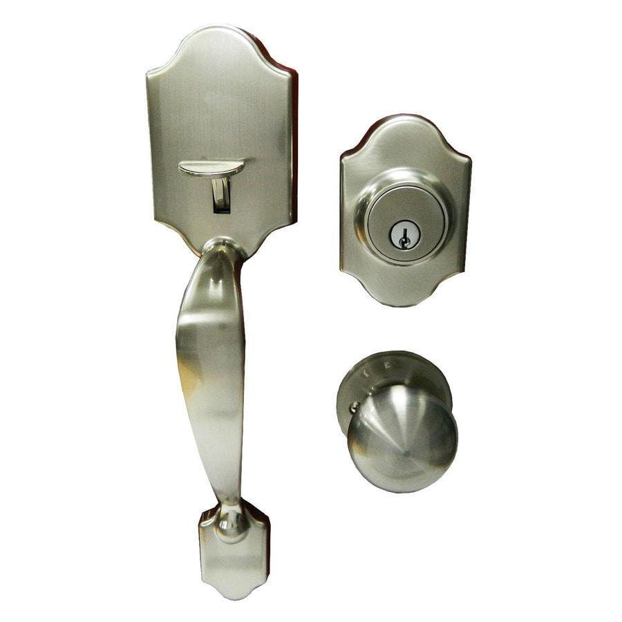 Gatehouse Springfield Satin Nickel Single-Lock Keyed Entry Door Handleset