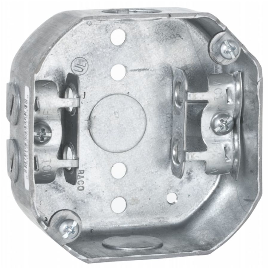 Raco 1-Gang Gray Metal Interior New Work/Old Work Standard Octagonal Ceiling Electrical Box