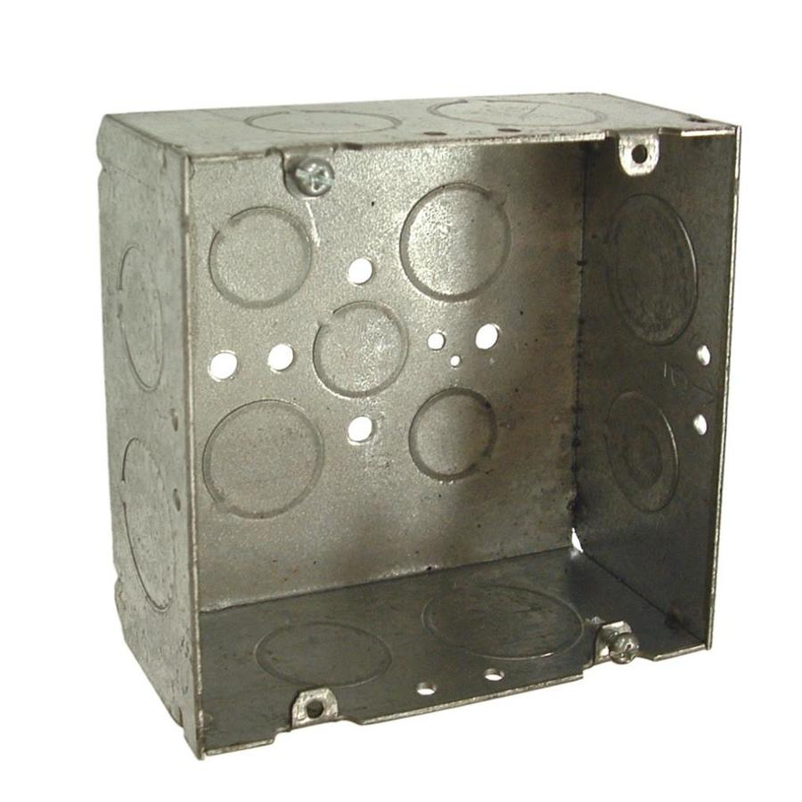 Raco 42-cu in 2-Gang Metal Square Wall Electrical Box