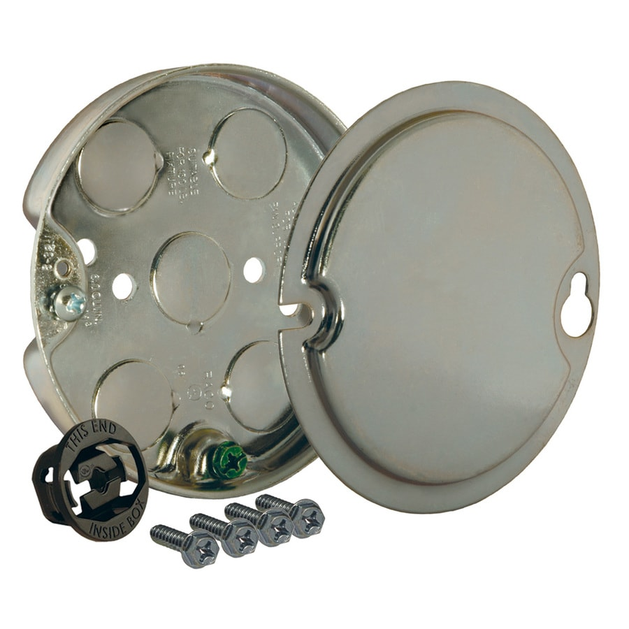 Ceiling Fan Electrical Box : Shop raco gang gray steel interior new work standard