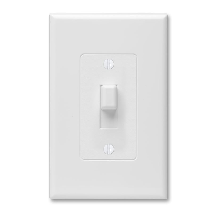 Hubbell TayMac Revive 1-Gang White Single Toggle Wall Plate