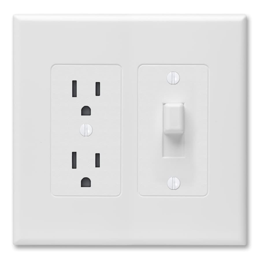 Hubbell TayMac Revive 2-Gang White Single Toggle/Decorator Wall Plate