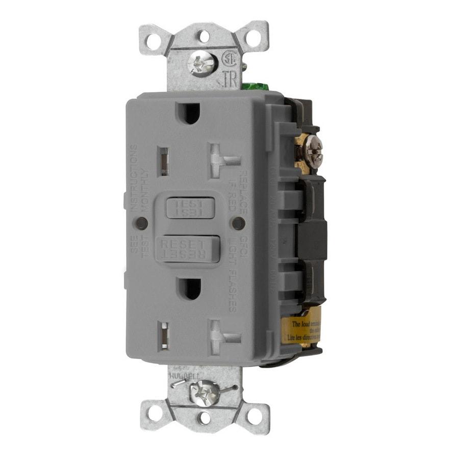 Shop Hubbell 20 Amp 125 Volt Gray Indoor Gfci Decorator