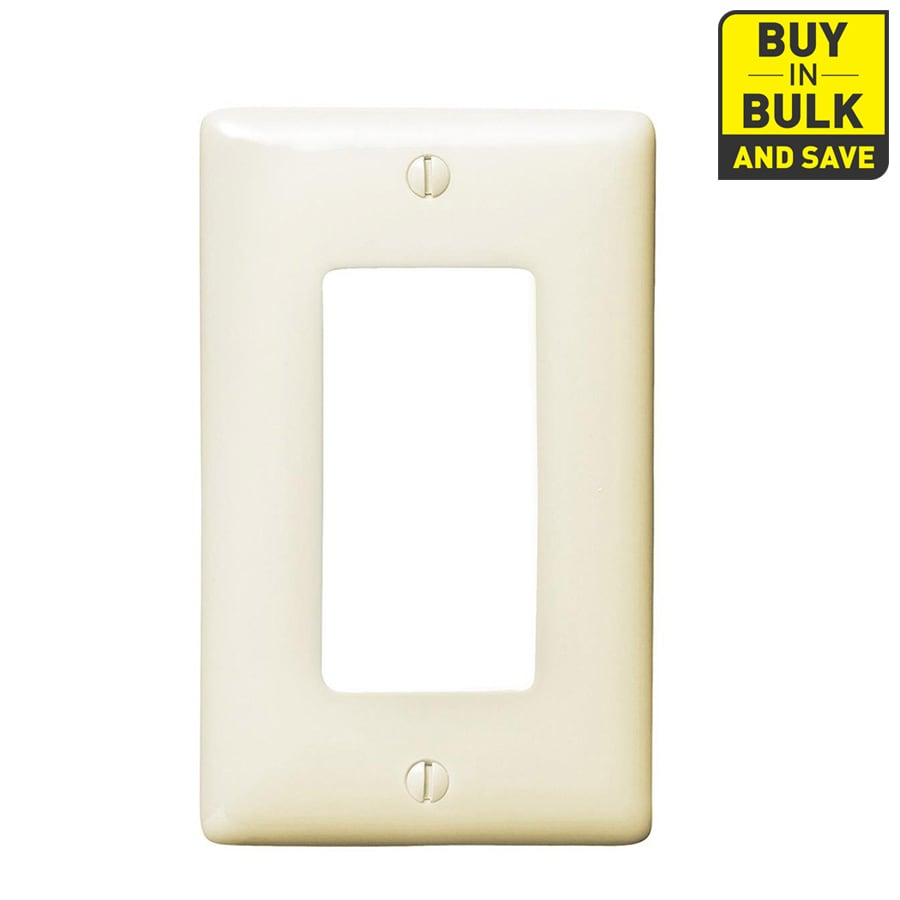 Hubbell 10-Pack 1-Gang Light Almond Single Decorator Wall Plates
